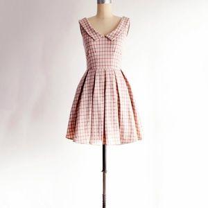 NWT Apricity Sunday Coffee Plaid Dress XS